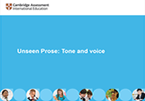 Unseen Prose: Tone and voice