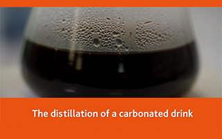 The distillation of a carbonated drink