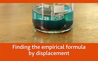 Finding the empirical formula by displacement