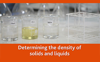 Determining the density of solids and liquids