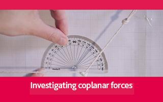 Investigating coplanar forces