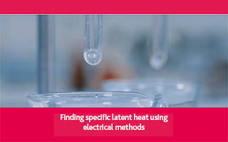 Finding specific latent heat using electrical methods