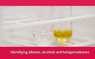 Identifying alkenes, alcohols and halogenoalkanes