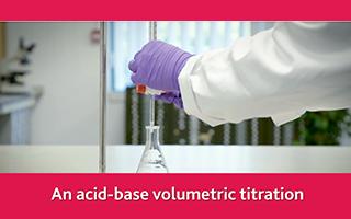 An acid-base volumetric titration